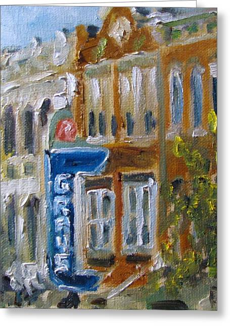 Downtown Franklin Greeting Cards - Grays Greeting Card by Susan E Jones