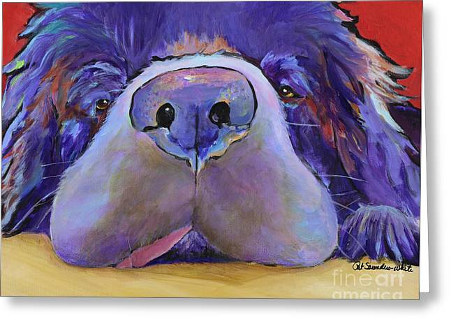 Pet Functional Art Greeting Cards - Graysea Greeting Card by Pat Saunders-White