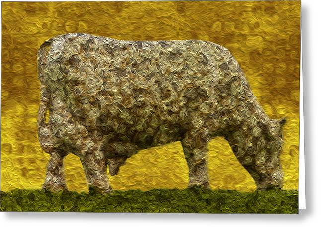 Grazing 2 Greeting Card by Jack Zulli