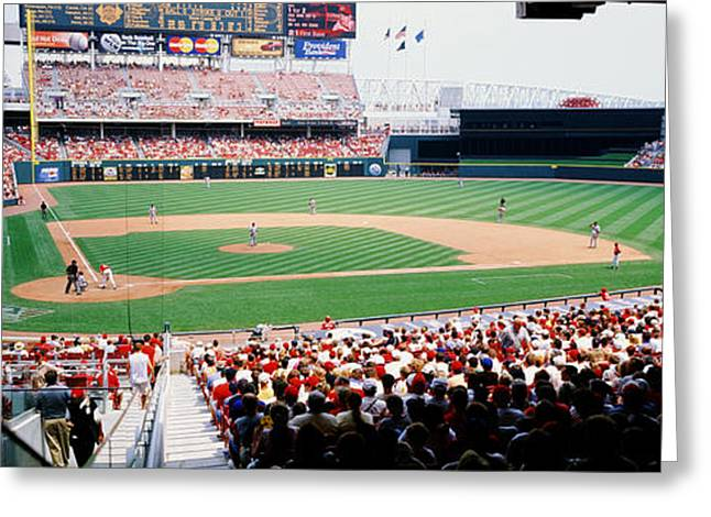 Ohs Greeting Cards - Great American Ballpark Cincinnati Oh Greeting Card by Panoramic Images