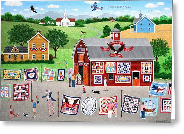 Great American Quilt Factory Greeting Card by Wilfrido Limvalencia