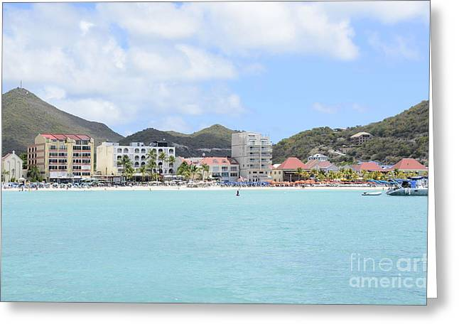 Greater Antilles Greeting Cards - Great Bay Beach Greeting Card by Birgit Tyrrell