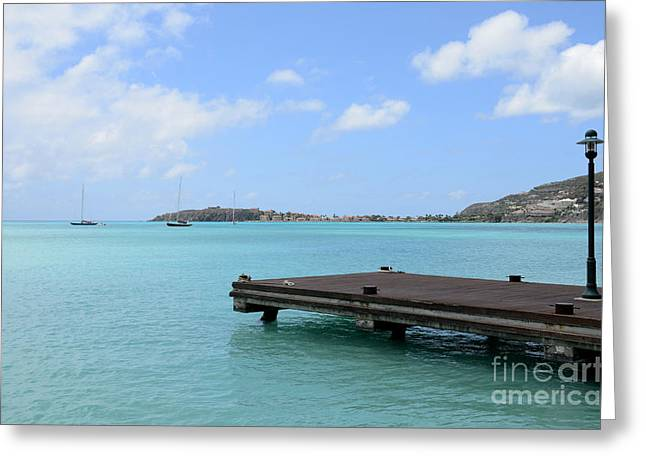 Greater Antilles Greeting Cards - Great Bay St. Maarten Greeting Card by Birgit Tyrrell