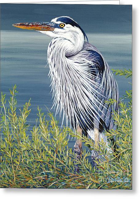 Danielle Perry Greeting Cards - Great Blue Greeting Card by Danielle  Perry