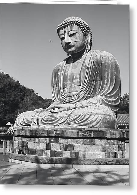 Ageless Greeting Cards - GREAT BUDDHA of KAMAKURA - JAPAN Greeting Card by Daniel Hagerman