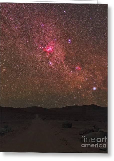 Wishes Greeting Cards - Great Carina Nebula And Star Clusters Greeting Card by Babak Tafreshi