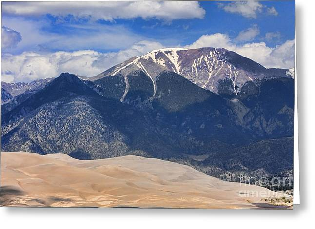 Great Sand Dunes National Preserve Greeting Cards - Great Colorado Sand Dunes 125 Greeting Card by James BO  Insogna