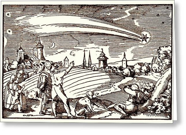 Great Comet Of 1577 Greeting Card by Detlev Van Ravenswaay