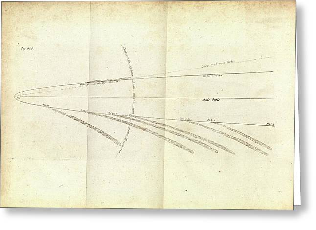 Great Comet Of 1680 Greeting Card by Royal Institution Of Great Britain