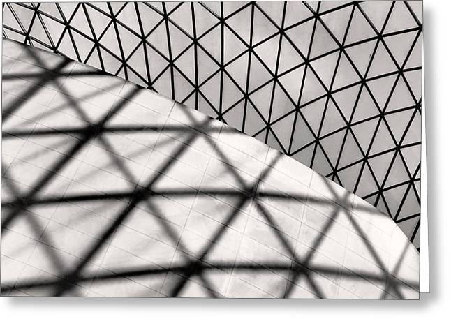 England Photographs Greeting Cards - Great Court Abstract Greeting Card by Rona Black
