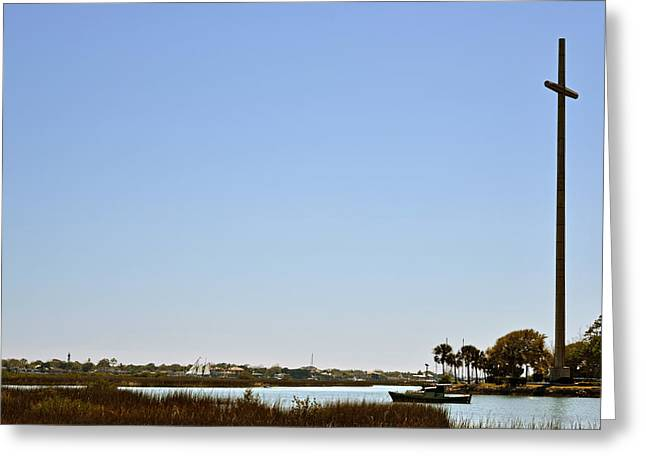 Great Cross - Nombre de Dios - St Augustine Greeting Card by Christine Till