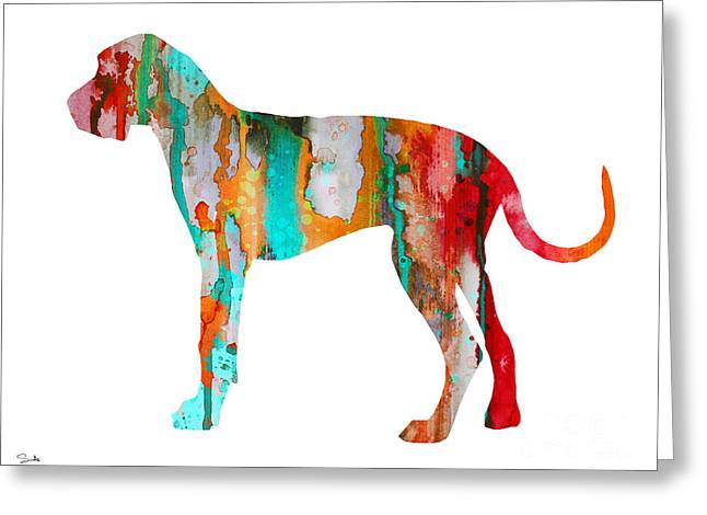 Great Paintings Greeting Cards - Great Dane 3 Greeting Card by Luke and Slavi
