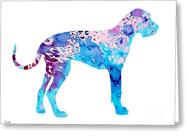 Great Paintings Greeting Cards - Great Dane 4 Greeting Card by Luke and Slavi