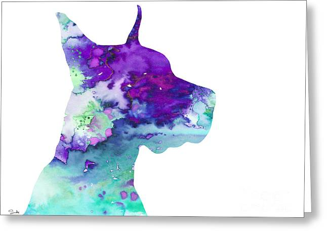 Great Paintings Greeting Cards - Great Dane 7 Greeting Card by Luke and Slavi