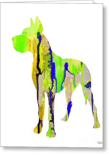 Great Paintings Greeting Cards - Great Dane 9 Greeting Card by Luke and Slavi