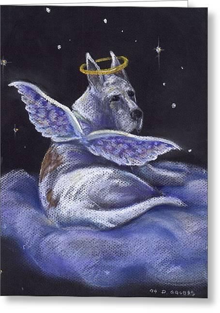 Great Pastels Greeting Cards - Great Dane Angel Greeting Card by Darlene Grubbs