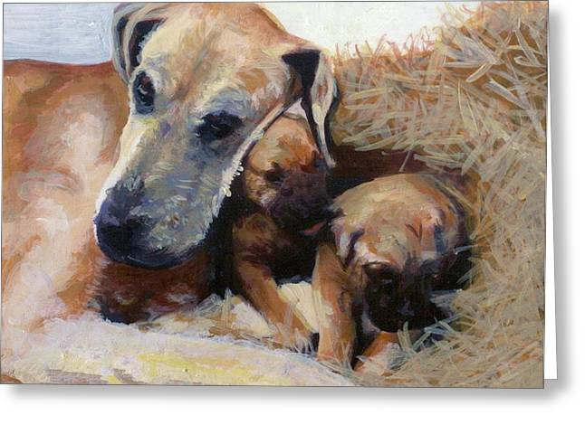 Great Pastels Greeting Cards - Great Dane Dog Greeting Card by Olde Time  Mercantile