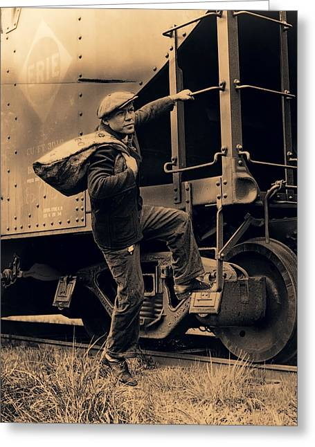 Great Depression Greeting Cards - Great Depression Mass Transit  1935 Greeting Card by Daniel Hagerman