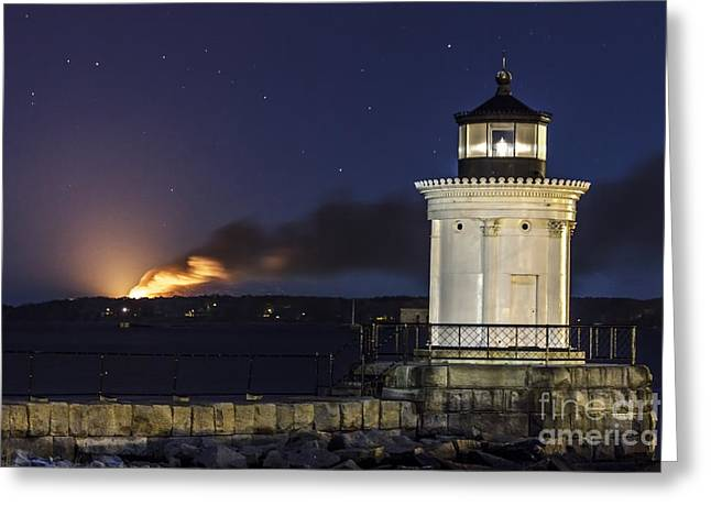 Recently Sold -  - New England Ocean Greeting Cards - Great Diamond Island Burns Greeting Card by Shane Borelli