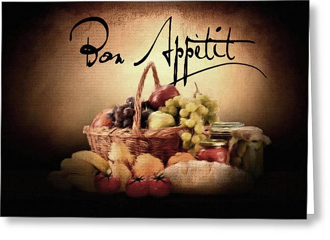 Fruit And Wine Digital Greeting Cards - Great Eating Greeting Card by Lourry Legarde