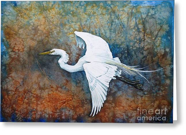 Great Egret  Greeting Card by Zaira Dzhaubaeva