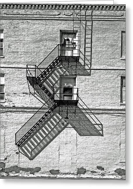 Fire Escapes Greeting Cards - Great Escape Greeting Card by Don Spenner