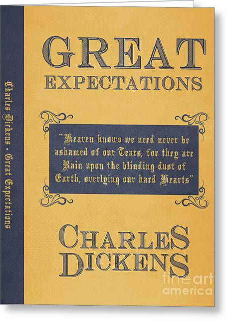 Book Jacket Greeting Cards - Great Expectations by Charles Dickens Book Cover Poster Art 1 Greeting Card by Nishanth Gopinathan