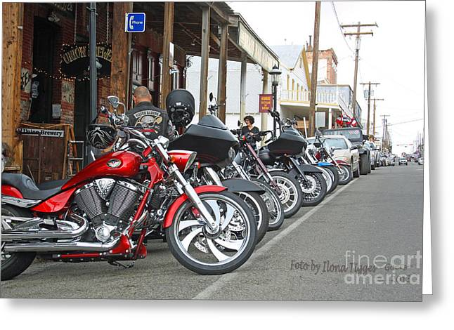 Shower Head Greeting Cards - Great experience not only for Harley fans Greeting Card by  ILONA ANITA TIGGES - GOETZE  ART and Photography