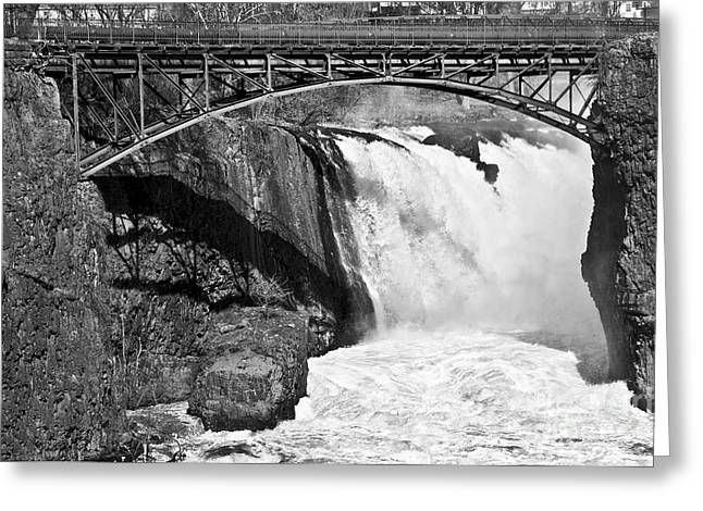 """""""great Falls"""" Greeting Cards - Great Falls in Paterson NJ Greeting Card by Anthony Sacco"""