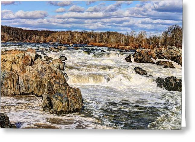 """great Falls"" Greeting Cards - Great Falls Greeting Card by JC Findley"