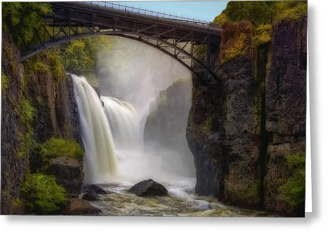 Susan Candelario Greeting Cards - Great Falls Mist Greeting Card by Susan Candelario