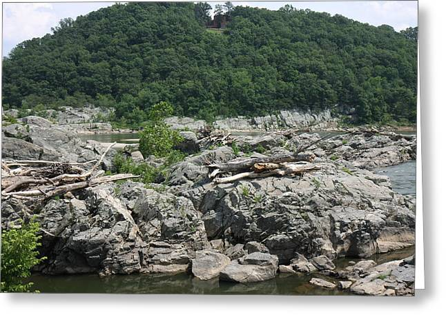 Greatfalls Greeting Cards - Great Falls Park - 121214 Greeting Card by DC Photographer