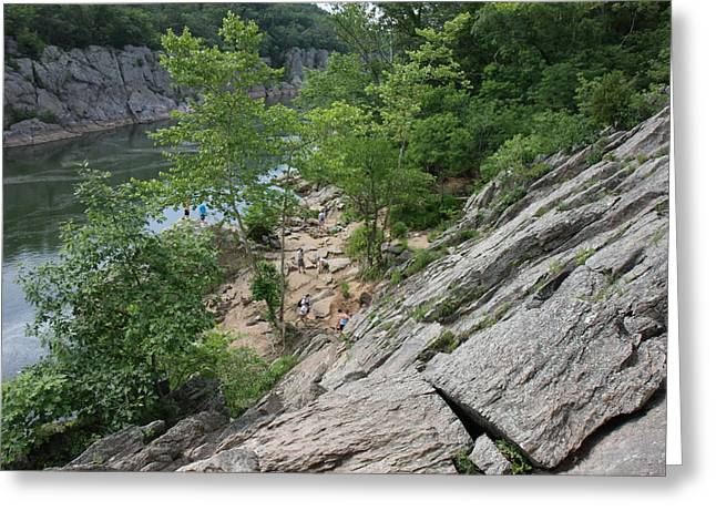 Greatfalls Greeting Cards - Great Falls Park - 121219 Greeting Card by DC Photographer