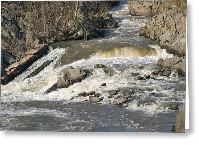 Park Photographs Greeting Cards - Great Falls VA - 121218 Greeting Card by DC Photographer