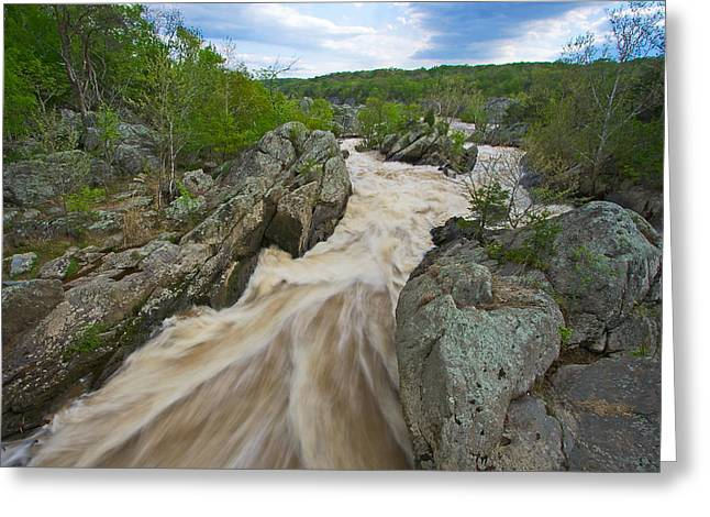 Water Flowing Greeting Cards - Great Falls White Water #2 Greeting Card by Stuart Litoff