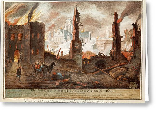 Great Fire Of London Greeting Card by British Library