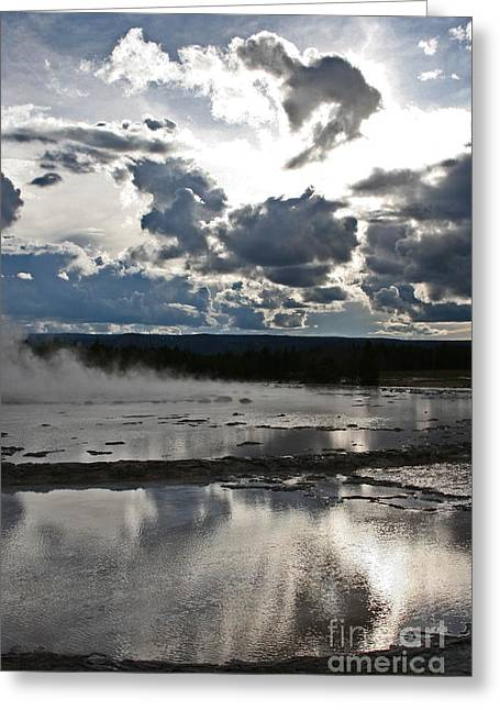 Great Fountain Reflection Thirty Greeting Card by Donald Sewell