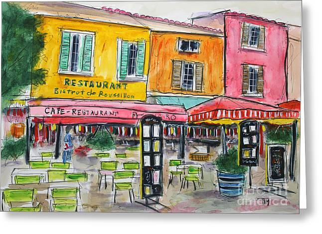 Tim Ross Greeting Cards - Great French Kwzeen Greeting Card by Tim Ross