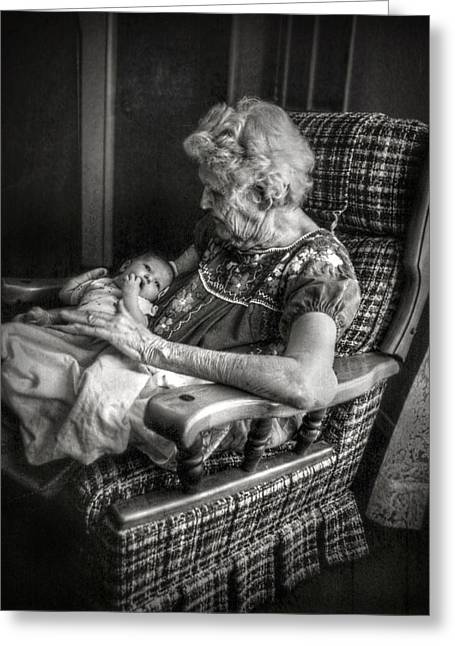 Family Love Greeting Cards - Great Grandchild Greeting Card by Linda Unger