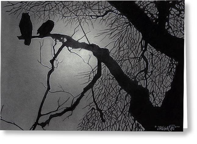 Great Horned Owl Greeting Card by Tim Dangaran
