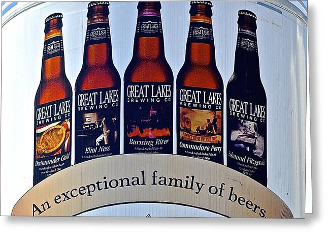 Great Wine Greeting Cards - Great Lakes Brewery Greeting Card by Frozen in Time Fine Art Photography