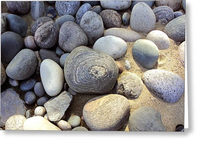 Pebbles Greeting Cards - Great Lakes Pebbles Greeting Card by Merv Scoble