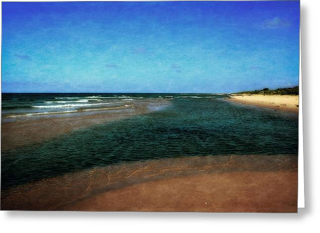 Michelle Greeting Cards - Great Lakes Sandbar Greeting Card by Michelle Calkins
