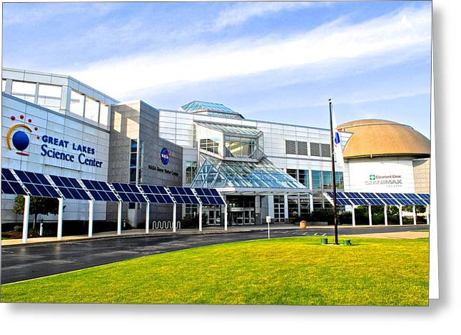 Great Lakes Science Center Greeting Card by Frozen in Time Fine Art Photography