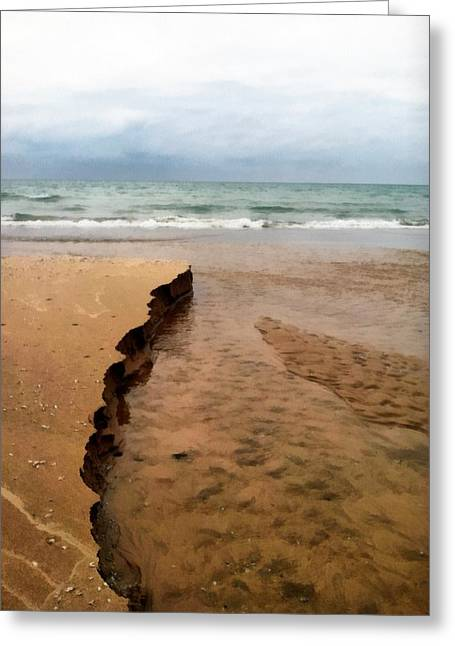 Beautiful Creek Digital Greeting Cards - Great Lakes Shoreline Greeting Card by Michelle Calkins