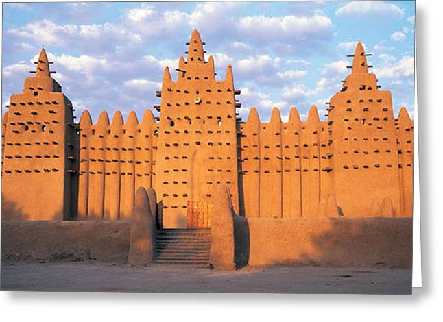 Great Mosque Greeting Cards - Great Mosque Of Djenne, Mali, Africa Greeting Card by Panoramic Images