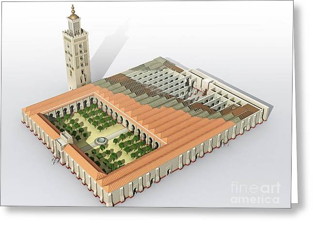 European Fruit Greeting Cards - Great Mosque Of Seville, Artwork Greeting Card by Jose Antonio Pe??as