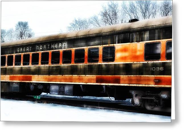 Historic Vehicle Mixed Media Greeting Cards - Great Northern  Greeting Card by Todd and candice Dailey