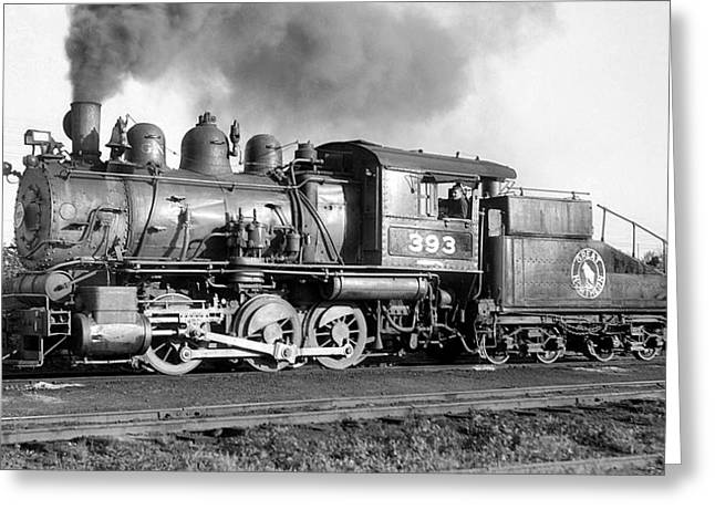 Rail Line Greeting Cards - Great Northern Steam Locomotive No. 393 Greeting Card by Daniel Hagerman