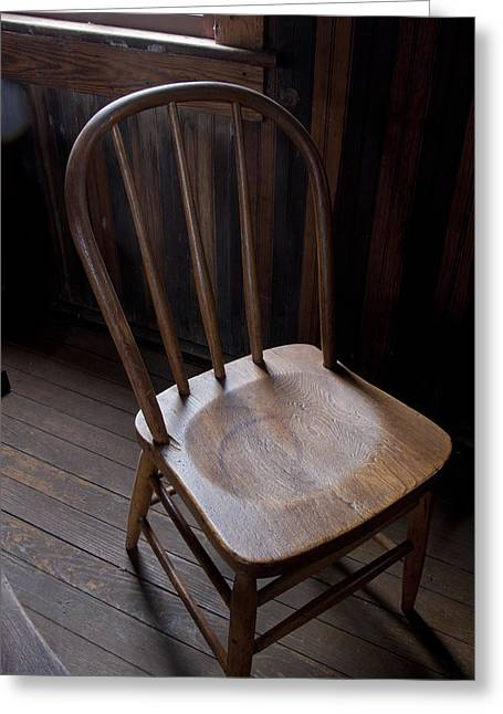 Empty Chairs Greeting Cards - Great Old Chair Greeting Card by Richard Smith